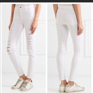 Frame Denim Le Skinny de Jeanne White Jeans